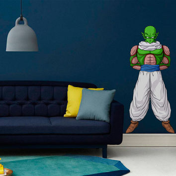 Piccolo Decal - Wall Decal Printed and Die-Cut Vinyl Apply in any Flat Surface- Piccolo Dragon Ball Z Wall Decal Sticker