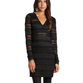 Bcbgeneration Lace Ruffle Body-Con Dress