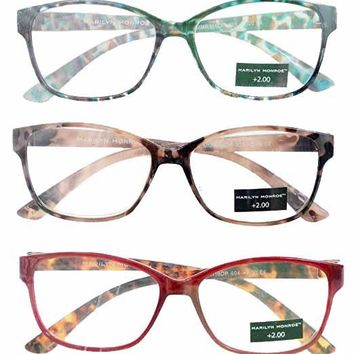 Marilyn Monroe Animal Print Reading Glasses 3 Pack Readers (2.00)