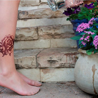 Printed Tights Rose by tattotights on Etsy