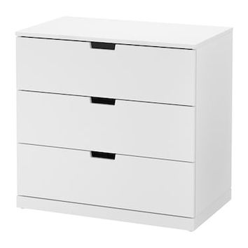 NORDLI Chest of 3 drawers Anthracite 80x76 cm - IKEA