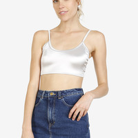 Pep Talk Silver Super Crop Top by American Deadstock