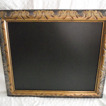 Ornate, Large, gold Framed Chalkboard. Big Framed chalk board, kitchen menu board, restaurant chalkboard, large ornate gold frame, wedding