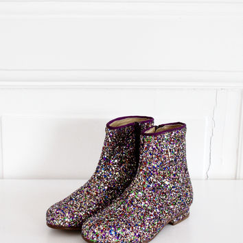 DOLLY by Le Petit Tom ® GLITTER BOOTS multi color
