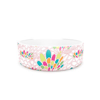 "Miranda Mol ""Blown Away"" Pink Multicolor Pet Bowl"
