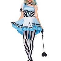 Psychedelic Alice in Wonderland Costume (Medium,Blue/White)