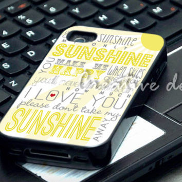 One Direction Sunshine Lyric case for iphone 4/4S, iphone 5/5C, samsung galaxy s3, samsung galaxy s4, ipod 4 and ipod 5