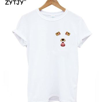dog snapchat pocket Print Women tshirt Cotton Casual Funny t shirt For Lady Girl Top Tee Hipster Tumblr Drop Ship Z-989