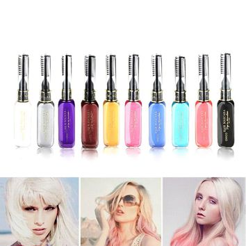 Portable Temporary Color Hair Dye Mascara Non-toxic Hair Mix Color Dyeing Salon Stick For Party Women Lady Hair Color    HB88