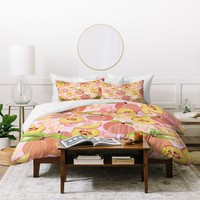 Lisa Argyropoulos Peaches On Pink Duvet Cover