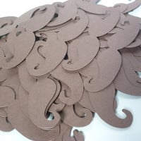 100 - Mustache BROWN Die Cuts Party Photo Prop Wedding Photo booth -