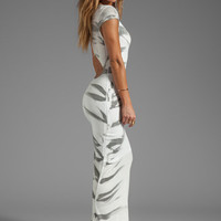 WOODLEIGH Open Back Tiger Tie Dye Maxi in Charcoal from REVOLVEclothing.com