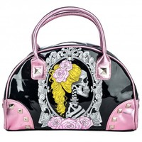 Too Fast Cameo Skull Handbag | Rockabilly Pin Up Gothic