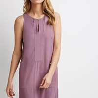 Contemporary Stitched-Panel Shift Dress