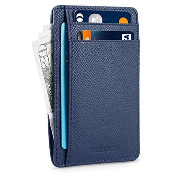 Balansea Front Pocket Wallet Minimalist Genuine Leather Slim Wallet RFID Blocking Credit Card Slots Holder for Men amp Women