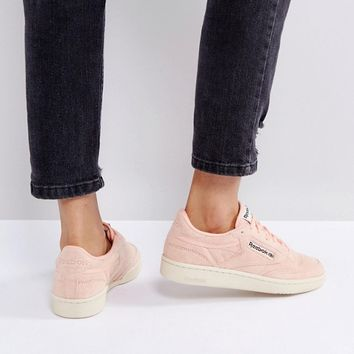 Reebok Classics Club C Pastel Trainers In Pink at asos.com