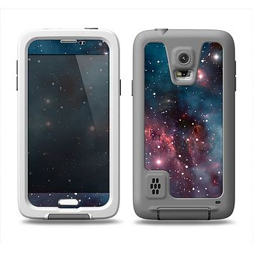 The Bright Pink Nebula Space Samsung Galaxy S5 LifeProof Fre Case Skin Set