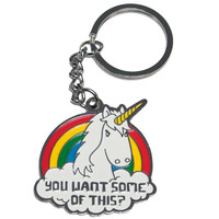 YOU WANT SOME OF THIS? UNICORN KEY CHAIN