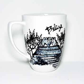 Long Distance Love Gift Ideas - Belize Coffee Mug