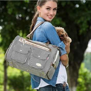 Windproof  Pet Carrier Dog carriers tote  Breathable Dog handbag Pet dog cat carrying bag travel Canvas dog cage Portable bags