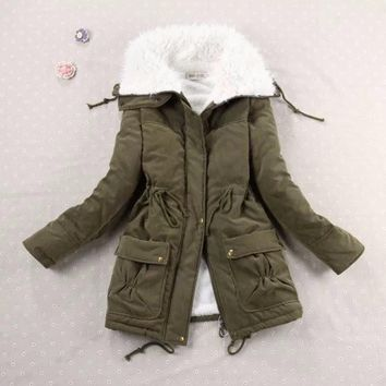 Winter Coat Cotton Padded Parkas