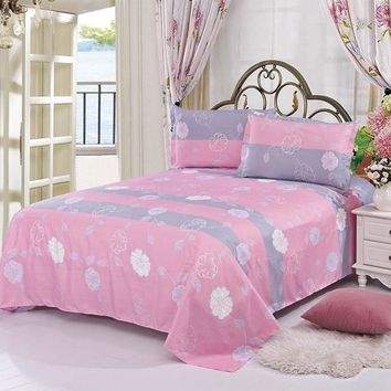 Adeeing Comfortable Breathable Soft Extremely Durable Bedding Warmly Simple Princess Style Pure Aloe Cotton Bed Sheets