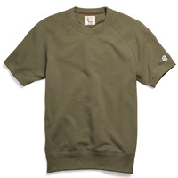 Short Sleeve Sweatshirt in Olive
