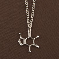 The Official I Love Science Store | Caffeine Molecule Pendant