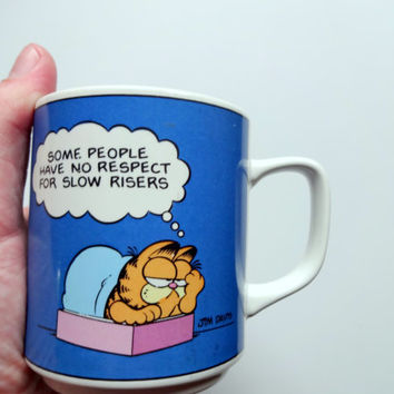 Vintage Garfield Slow Risers Coffee Mug 1978