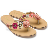 Bloomtastic Thong Sandals | Multi | Accessorize