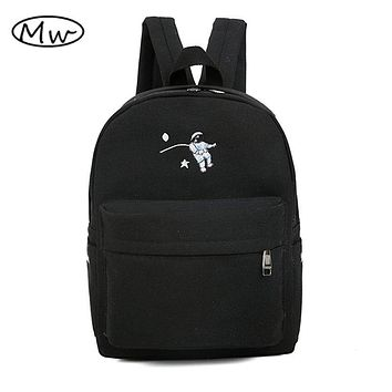 Funny embroidery printing backpack junior high school students schoolbag laptop bag backpack