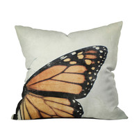 Butterfly Wing Throw Pillow Cover