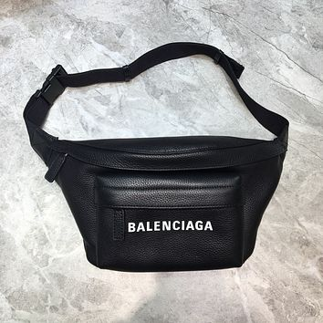 Balenciaga 2020 new Best Quality size 24*18*4 cm Fashion Women Men Zipper Leather Bumbag Purse Wallet Mobile Phone Package Crossbody Satchel Black