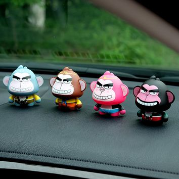 PVC Cartoon Journey To The West Figure Auto Car Ornament Creative Tang Monk Monkey King Figurine Decoration Model Gift Toys