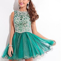 Buy discount Charming Tulle Jewel Neckline Short A-line Homecoming Dress at Dressilyme.com