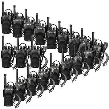 Hands Free Walkie Talkies with Earpiece and USB Charger (20 Pack) Retevis RT46 2 Way Radios Long Range Rechargeable Dual Power FRS Emergency Alarm VOX Hands Free Walkie Talkies with Earpiece and USB Charger (20 Pack)