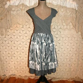 Gray Camo Dress Gray Camouflage Dress Edgy Dress Punk Clothing Camo Grunge Party Dress