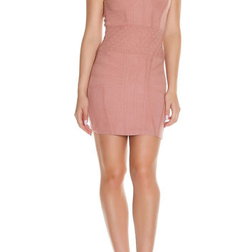 Maasin Suede Dress - Blush