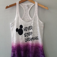 Burnout Ombre Razor Tank- Never Stop Dreaming