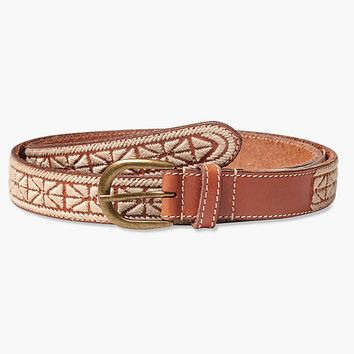 Lucky Brand Textured Embroidered Belt