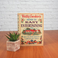 1959 Betty Crocker's Guide to Easy Entertaining Vintage Cookbook Spiral Bound Hard Cover Book