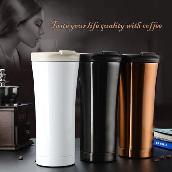 Keelorn Hot Sale Double Wall Stainless Steel Coffee Thermos Cup Mugs Thermal Bottle 500ml Thermocup Fashion Tumbler Vacuum Flask