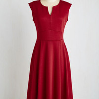 Short Sleeves A-line Predilect Your Thoughts Dress by ModCloth