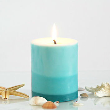 FREE SHIPPING Fresh Linen Scented Soy Pillar Candle Gift Set