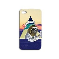 Cute Sloth Quote Phone Case Funny Cover iPhone iPod