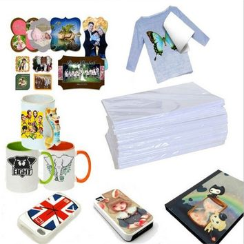 Magic Pack of 10 Funny A4 Size Inkjet Heat Tattoo Transfer Iron Paper for Light Fabrics T-Shirt (Color: White)