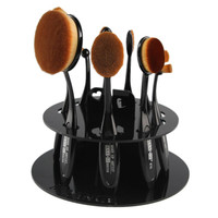 Professional Hole Oval Makeup Brush Holder Drying Rack Organizer Cosmetic Shelf Tool