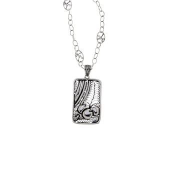 Belle Nouveau Rectangle Sterling Silver Necklace