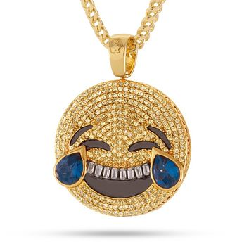 The Laugh Now, Cry Later Emoji Necklace