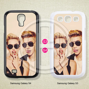 Miley cyrus&Justin bieber, Phone cases, Samsung Galaxy S3 Case, Samsung Galaxy S4 Case, Case for Samsung Galaxy, Cover Skin -S0844